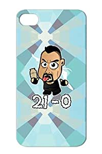 Shock Absorption Cartoon Funny Chibi Undertaker 21 0 WWE Wrestling WrestleMania 29 RIP White Protective Hard Case For Iphone 4/4s