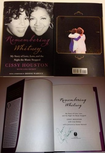 Cissy Houston Autographed Book Remembering Whitney Houston From Signing W/coa Grammy