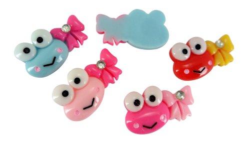 Resin-Keroppi-Frog-Gem-Bow-Flat-Back-Trim-Cabochon-Alligator-Clips-Appliques-Craft