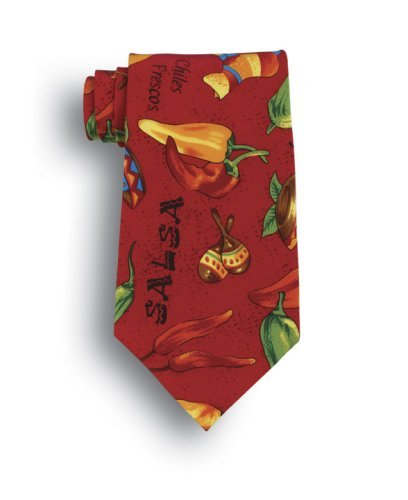 Muy Caliente! Silk Tie - Salsa (Silk Salsa)