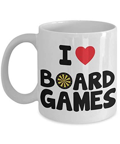 Mug Geeks Heart - PixiDoodle I Love Board Games - Heart Gamer Nerd or Geek Coffee Mug (11 oz, White)