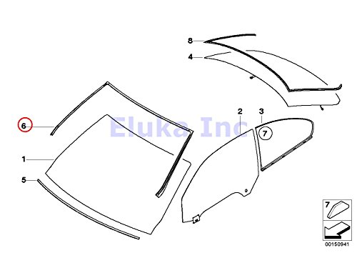 BMW Genuine Exterior Trim Grill Seals Windshield Moulding Front Upper  328i 328xi 335i 335xi M3 328i 328xi 335i 335is 335xi ()