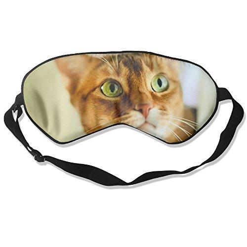 Cute Orange Cat Face Sleep Eyes Masks - Comfortable Sleeping Mask Eye Cover For Travelling Night Noon Nap Mediation Yoga by Ministoeb