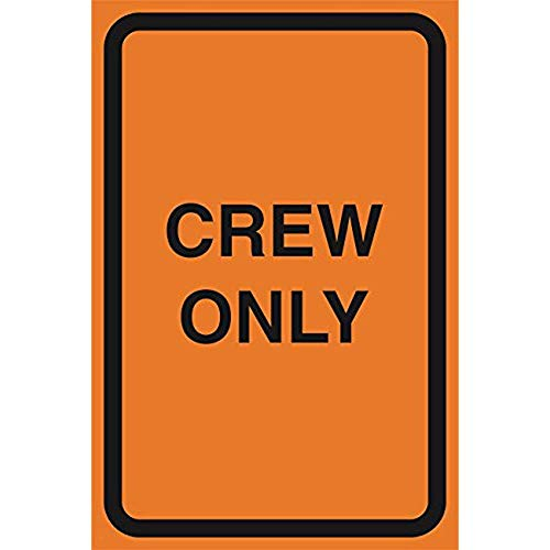 """Diuangfoong Crew Only Orange Construction Area Working Notice Lot Zone Safety Street Road Warning Business Signs Commercial Sign Aluminum Metal Tin 12""""x18"""" Sign Plate from Diuangfoong"""