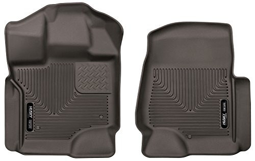 Husky Liners 53360 Cocoa Floor Liners - Front Fits 17-19 Ford F-250/350/F450 Crew Cab/SuperCab, 2 Pack