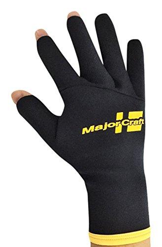 メジャークラフト(MajorCraft)グローブMAJORCRAFTフィシングネオプレチタングローブMCTG-2-3/LブラックL
