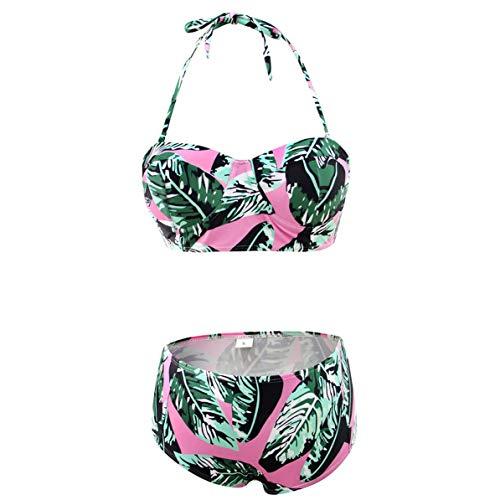 Sexy Floral Print High Waist Swimsuit 2019 Bikini Push Up Swimwear Women Vintage Biquini Bathing Suit Maillot de Bain Femme ()