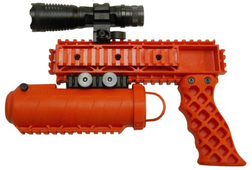 Pro-Defense The Defender Rail Mounted Pepper Spray System, Orange Color, Left/Right by Pro-Defense