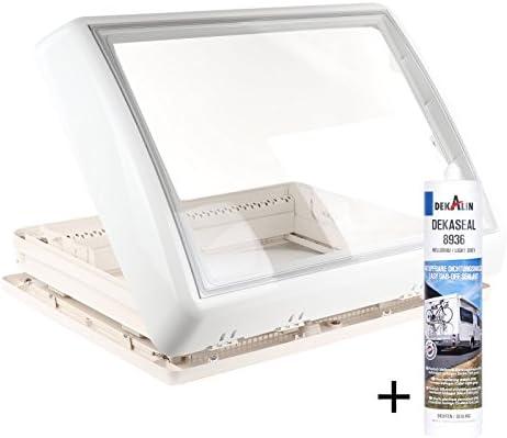 Dometic Midi Heki 70 x 50 cm grosor de techo 25 – 45 mm ventilación + Dekalin Dich Medio Para Caravana o caravana: Amazon.es: Coche y moto