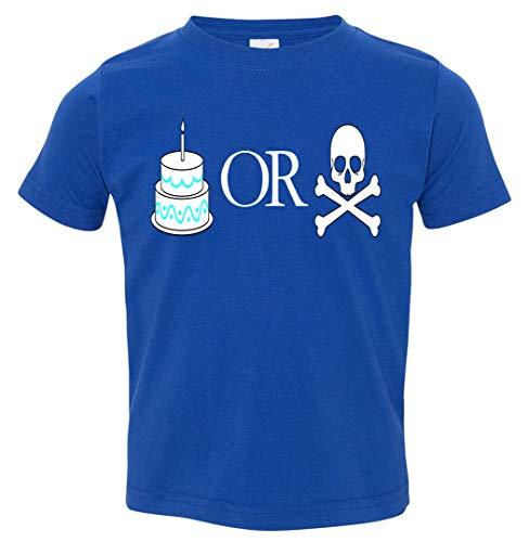 Tenacitee Toddler's Cake or Death T-Shirt, 3T, Royal Blue ()