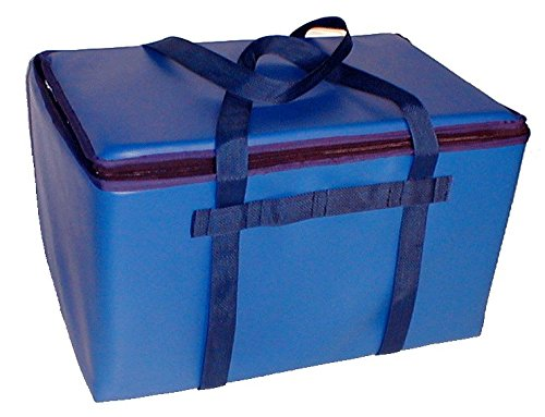 TCB Insulated Bags DST-1-Blue Insulated Catering Bag for Steam Table Pans, Holds 3 4'' or 2 6'' Pans, 16'' x 24'' x 14'', Blue by TCB Insulated Bags