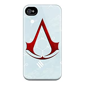 Iphone 4/4s VNL180qHoY Custom HD Assassins Creed Image Protector Hard Phone Case -Marycase88