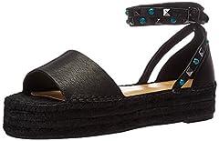 Flat-form espadrille sandal