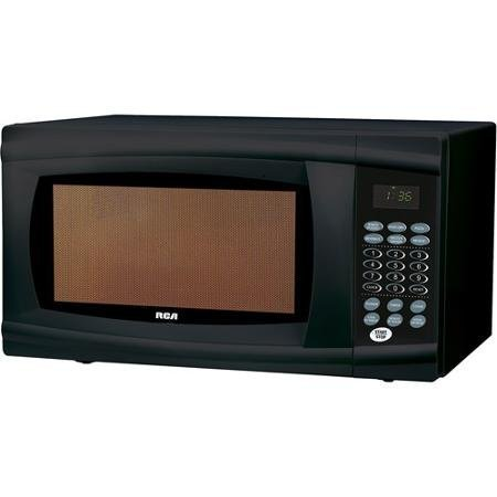 Microwave, Black 1.1cu Ft 1,000-watts of Cooking Power with Removable Glass Turntable