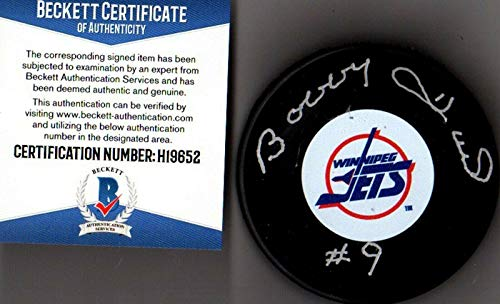 - Bobby Hull Autographed Hockey Puck - Beckett bas #9 H19652 - Beckett Authentication - Autographed NHL Pucks