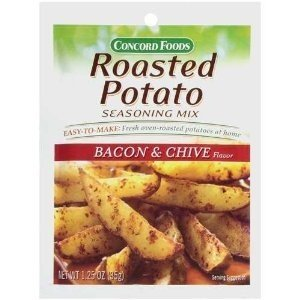Roasted Potato - Concord Foods, Roasted Potato Bacon & Chive Seasoning Mix, 1.25oz Packet (Pack of 6)