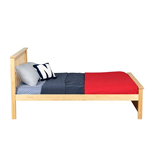Max & Lily Solid Wood Full-Size Bed, Natural