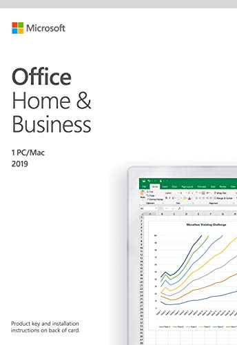 Microsoft Office Home and Business 2019 Activation Card by Mail 1 Person Compatible on Windows 10 and Apple macOS (2013 Office Microsoft Windows 7)