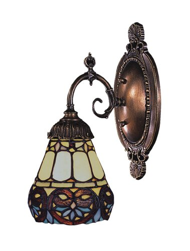 Elk 071-Tb-21 Floral Heart Mix-N-Match 1-Light Sconce, 10-Inch, Tiffany Bronze