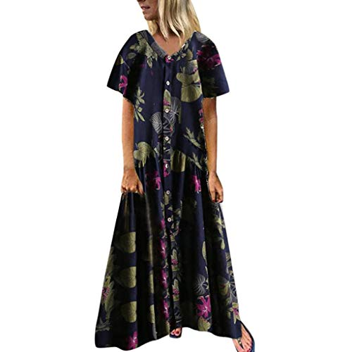 Couture Jersey Gown - Dressin Women Floral Dress Bohe Long Dress Sleeveless V Neck Dresses Sundress with Pocket