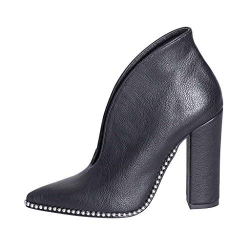Avec Azalées Qualité En Cuir 09 Rivets Abn Nombre Chaussures Italy Haut Micro 'élégant In Made Talon nbsp;cm Étude 10 nbsp;excellente nbsp;avec Taille Créations Véritable 39 8Nnmwv0