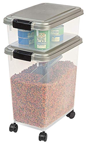 IRIS 3-Piece Airtight Pet Food Container Combo, Pack 2 by IRIS USA, Inc. (Image #3)