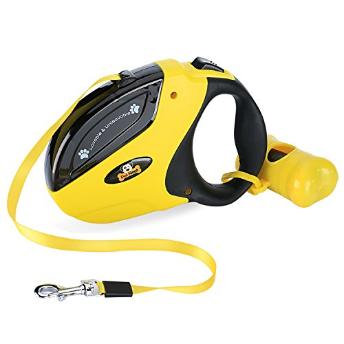 Retractable Dog Leash with Break and Lock Button - Free Waste Bag & 4 eBooks - Premium Quality - 16 Ft - Suitable for Small, Medium and Large Dogs - - Dog Lock
