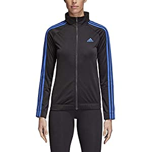 adidas Womens Designed 2 Move Track Top, Black/Blue, X-Small