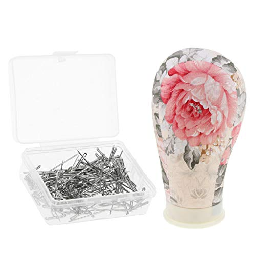100x Craft T Pins for Art Modelling Wig Upholstery Mannequin Model Head 22 ()