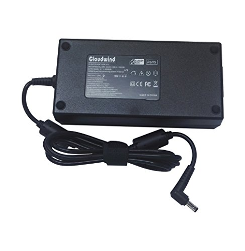 Cloudwind 19V 9.5A 180W Replacement AC Adapter for Asus-Gaming-Laptop G55 G55VW G53SX G46VW G70 G71 G72 G72GX G73 G73JH G73 G73SW G74 G74S G74SX G75.Laptop AC Adapter Charger Power Cord