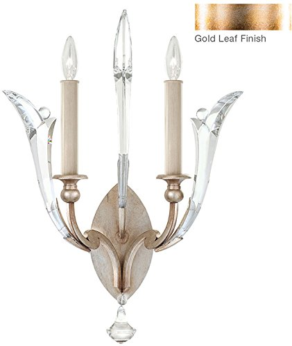 Fine Art Lamps 855450-2, Ice Sculpture Candle Crystal Wall Sconce Light, 40 Watt, Gold - Ice Crystal Sconce