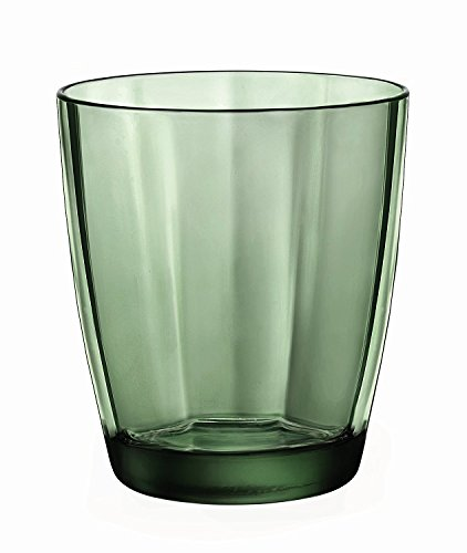 Bormioli Rocco Pulsar Double Old Fashioned Glasses, Forest Green, Set of (Green Cocktail Glasses)