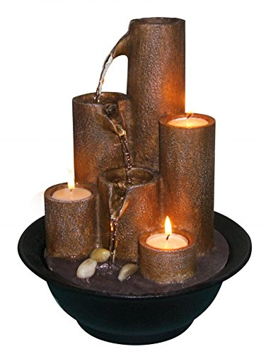 Cheap  Alpine WCT202 Tiered Column Tabletop Fountain with 3-Candles