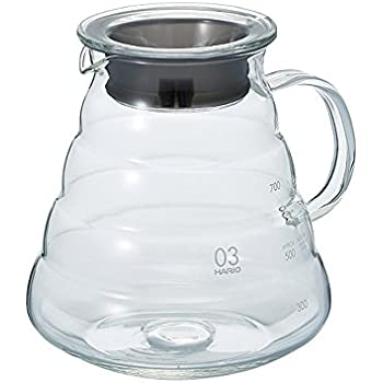 Hario V60 Glass Range Server (800ml, Clear, Size 03)