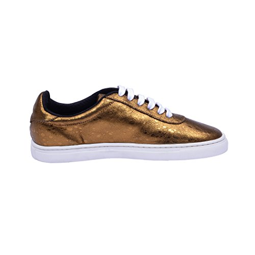Tedish Sneakers Dames Wandelschoenen Meisje Leder Comfortabele Ongedwongen Lace-up Flats Td009 Abella Brons Brons Ii Ii