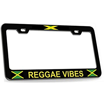 Live The Life You Love reggae Chrome License Plate Frame Love The Life You Live