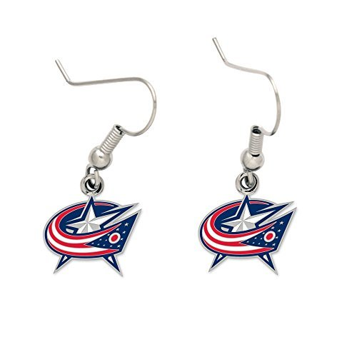 NHL Columbus Blue Jackets Earrings Jewelry Card Card Blue Jackets