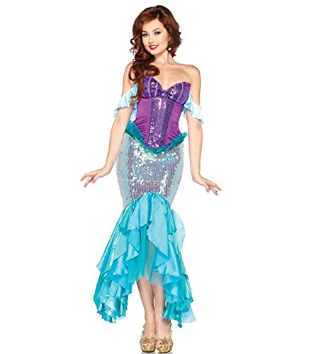 [Women's Mermaid Evening Party Cocktail Dress Costume for Christmas] (Cocktail Dress Halloween Costumes)