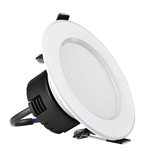 LE 8W 35-Inch LED Recessed Lighting 75W Halogen Bulbs Equivalent Not Dimmable LED Driver Included 400lm Daylight White 6000K 90° Beam Angle Recessed Ceiling Lights Recessed Lights LED Downlight