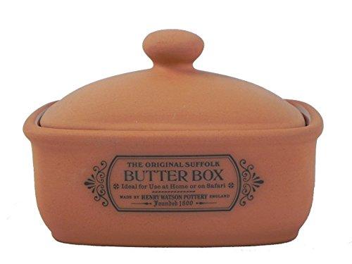 Henry Watson Original Suffolk Terracotta Butter Box Dish Made in England ()