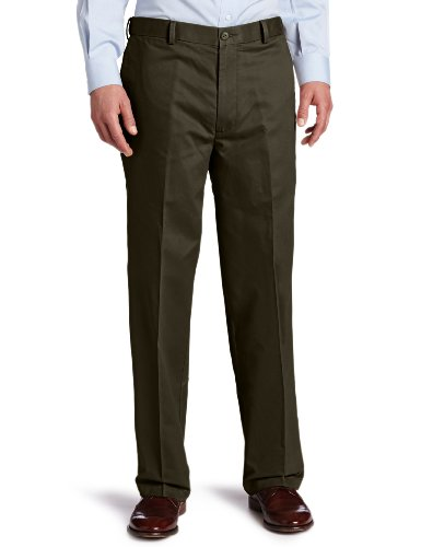 Dockers Men's Comfort Khaki Relaxed-Fit Flat-Front Pant, Bark - discontinued, 36W x 29L
