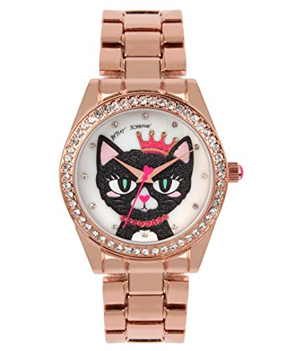 Betsey Johnson Women's Japanese Quartz Metal Strap, Rose Gold, 20 Casual Watch (Model: 259130RGD220) (Betsey Johnson Watch Bracelet)