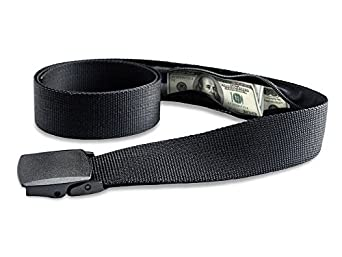 Travel Security Belt with Hidden Money Pocket - Cashsafe Anti-Theft Wallet - Non-Metal Buckle by RoomierLife