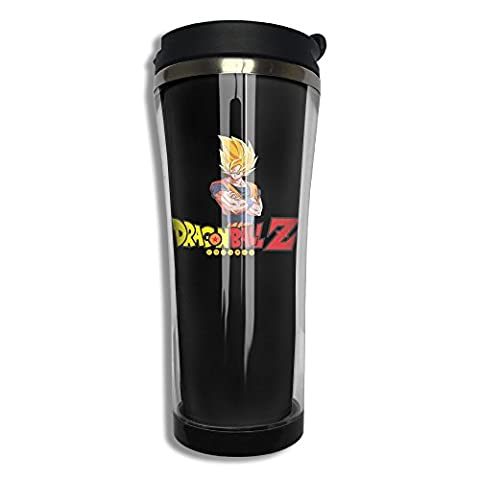 Dragon Ball Z Super Saiyan Stainless Steel 420 Ml Travel Mug Cups Thermal Mug (Digimon Travel Mug)