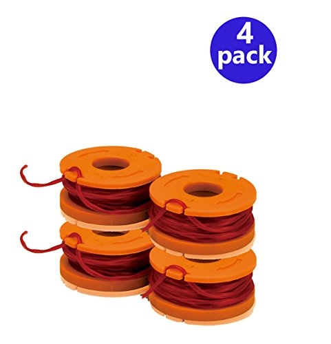 WORX WA0004 Replacement 10-Foot Grass Trimmer/Edger Spool Line (4-Pack) by WORX