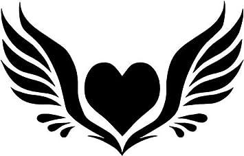 amazon com angel wings heart vinyl decal sticker bumper car truck rh amazon com angel wings with heart images angel wings with heart tattoo