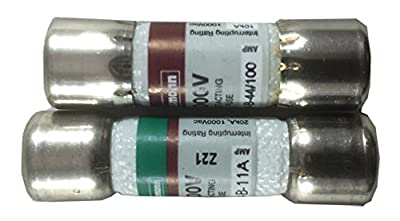 Combo pack: 1 piece DMM-11A (DMM11) and 1 piece DMM-44/100 (DMM 44 100) Digital multimeter replacement Fuse (Fluke)