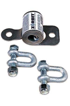 3M DBI-SALA 7401031 Zorbit Horizontal Lifeline System Component, Energy Absorber with Two Shackles and Fasteners, Silver by 3M Fall Protection Business (Image #1)