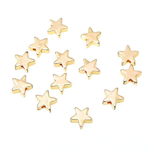 Monrocco 30 pcs Star Shape Spacer Beads Jewelry Findings Stamping Blanks]()
