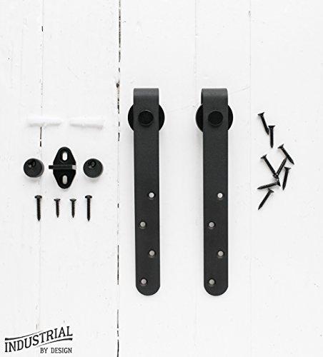MINI Cabinet Sliding Barn Door Hangers (Black, Pair) ▫ Ultra Quiet, Successfully Tested Beyond 100,000 Rolls ▫ Extra Hangers Only, No (Sliding Cabinet Doors)